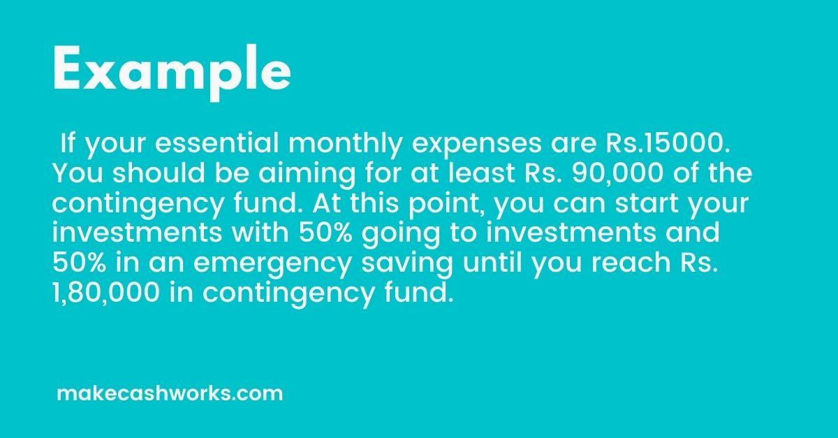 emergency fund sample